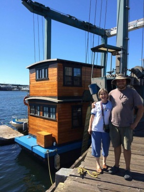 Happy customer after housebarge buildout