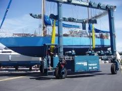 boat in slings